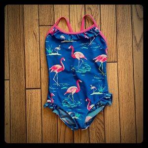 Mini Boden Size 2-3Y Flamingo Swimsuit